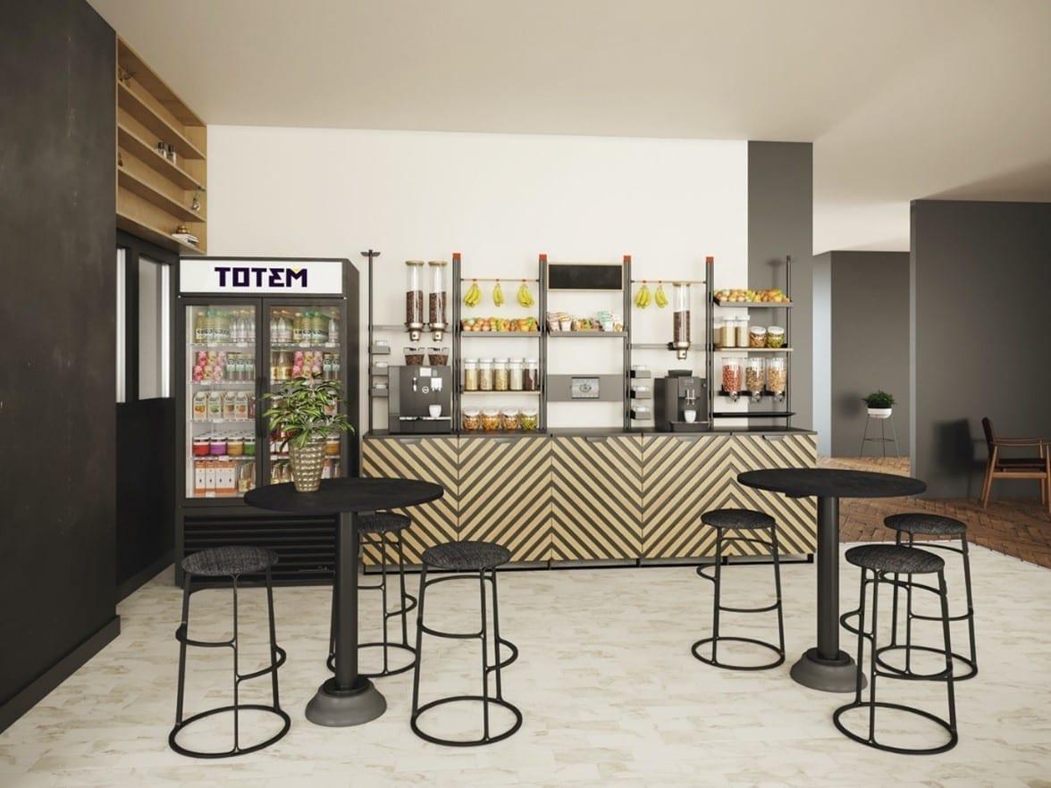 Photo d'une cafétéria moderne d'une entreprise