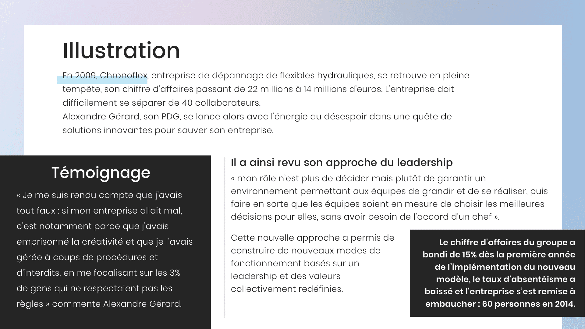 Visuel décrivant l'illustration Chronoflex