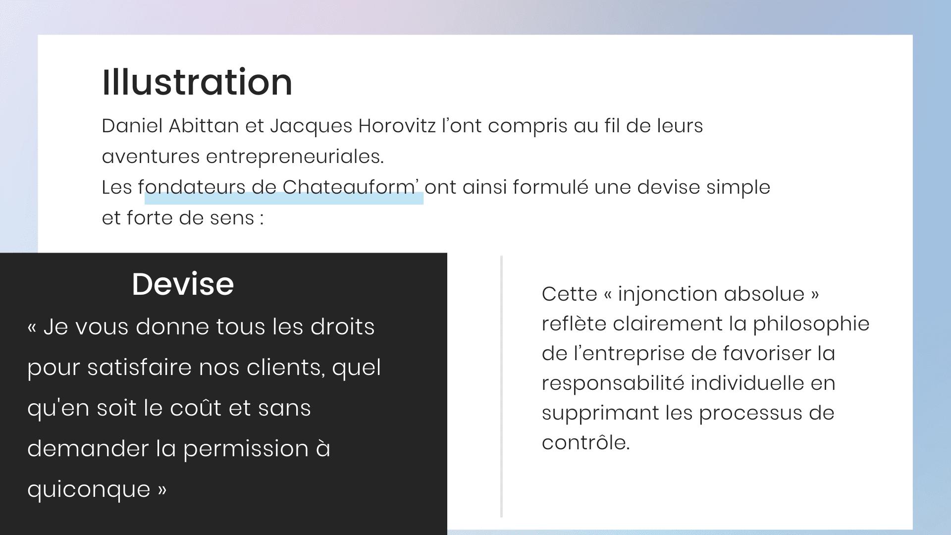 Visuel décrivant l'illustration Chateauform'