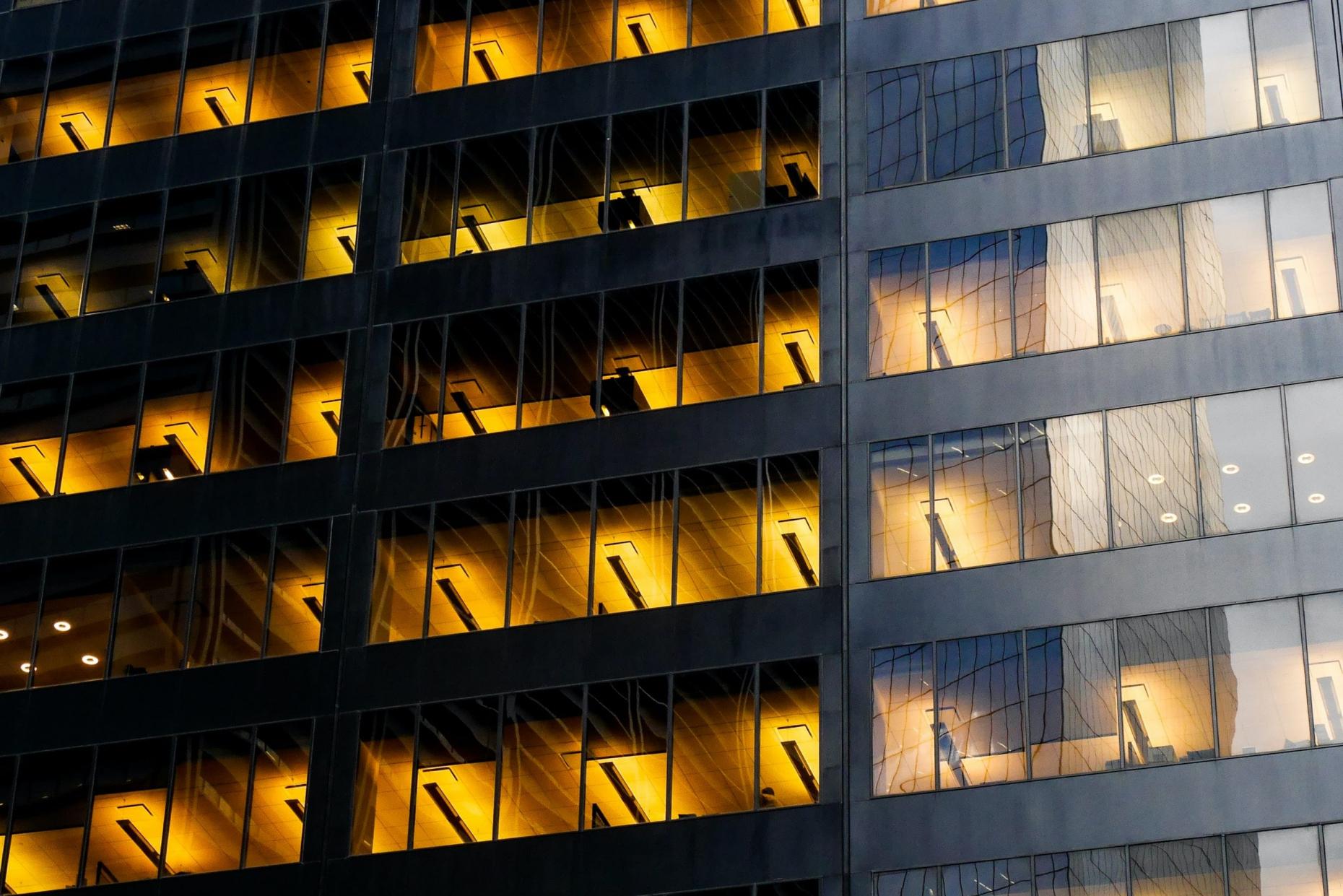 Façade d'un immeuble de bureaux