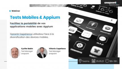 Evènement Test Mobiles et Appium
