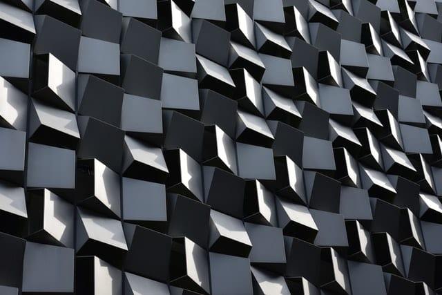 image abstraite de cubes gris