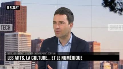 Photo de Nicolas Gaudemet sur le plateau de Smart Tech