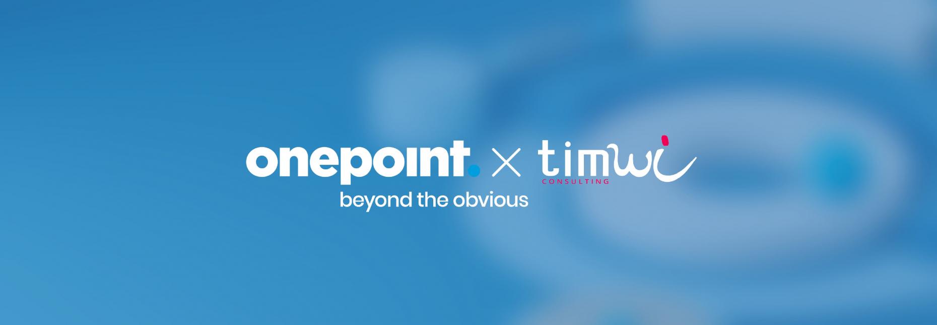 Image rassemblant les logo onepoint et celui de timwi